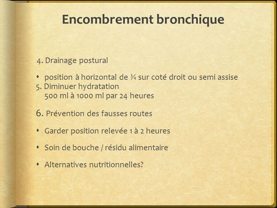 Encombrement bronchique