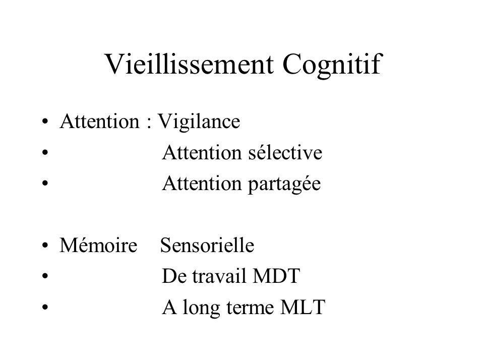 Vieillissement Cognitif