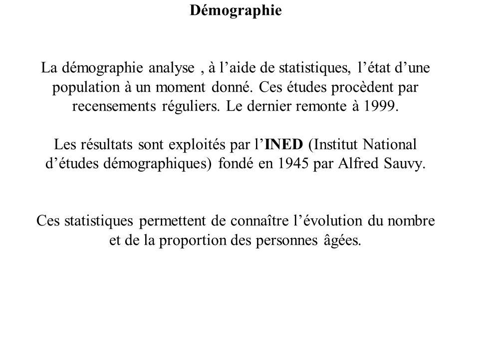 Démographie La démographie analyse , à l'aide de statistiques, l'état d'une population à un moment donné.