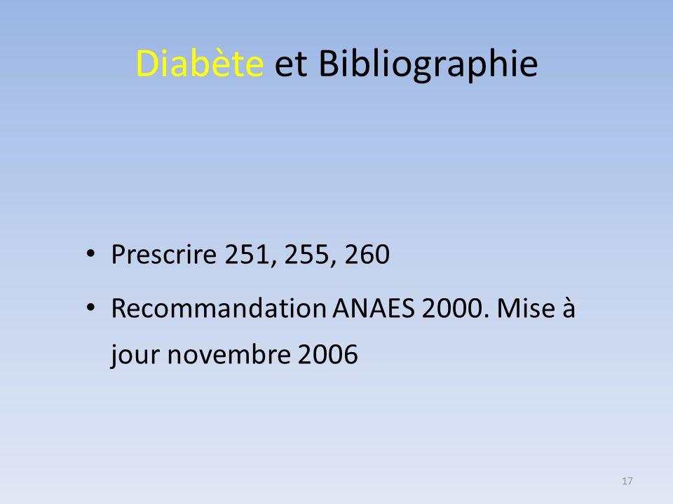 Diabète et Bibliographie