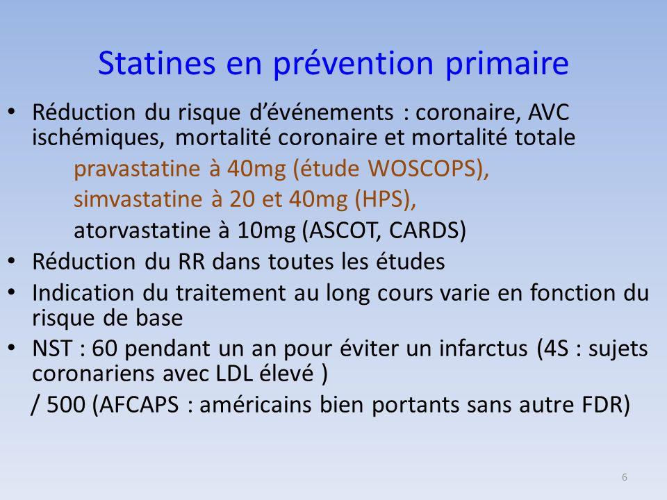 Statines en prévention primaire