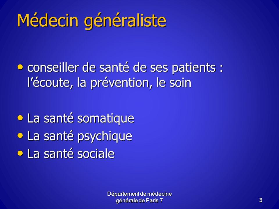 Département de médecine générale de Paris 7