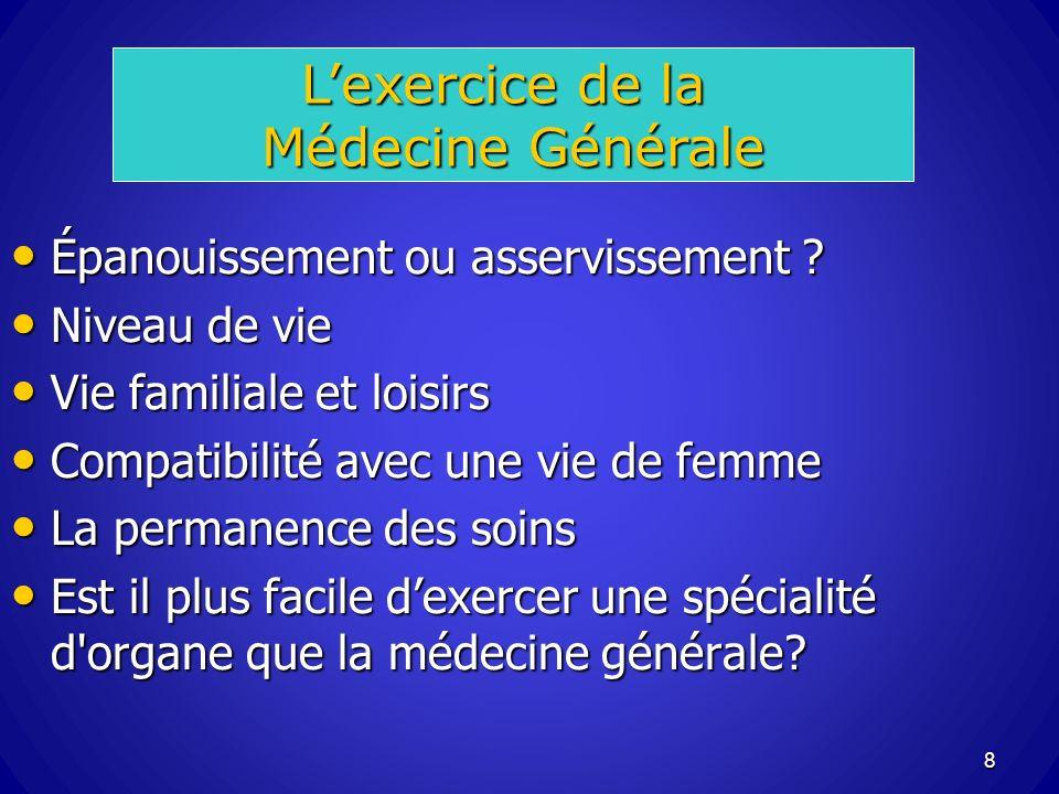 L'exercice de la Médecine Générale