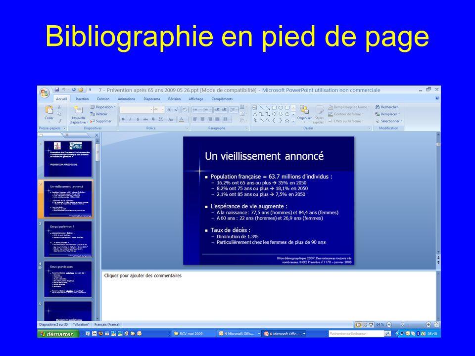 Bibliographie en pied de page
