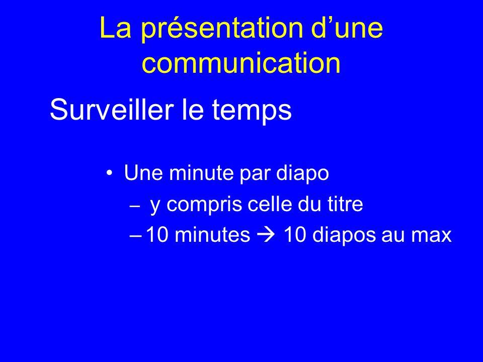 La présentation d'une communication