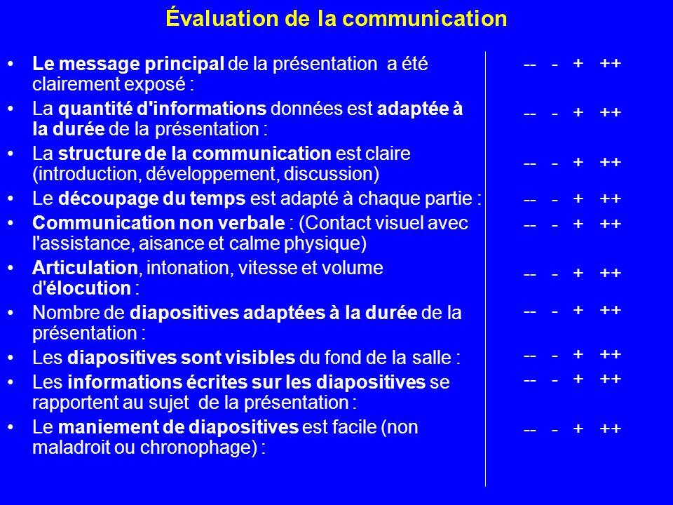 Évaluation de la communication