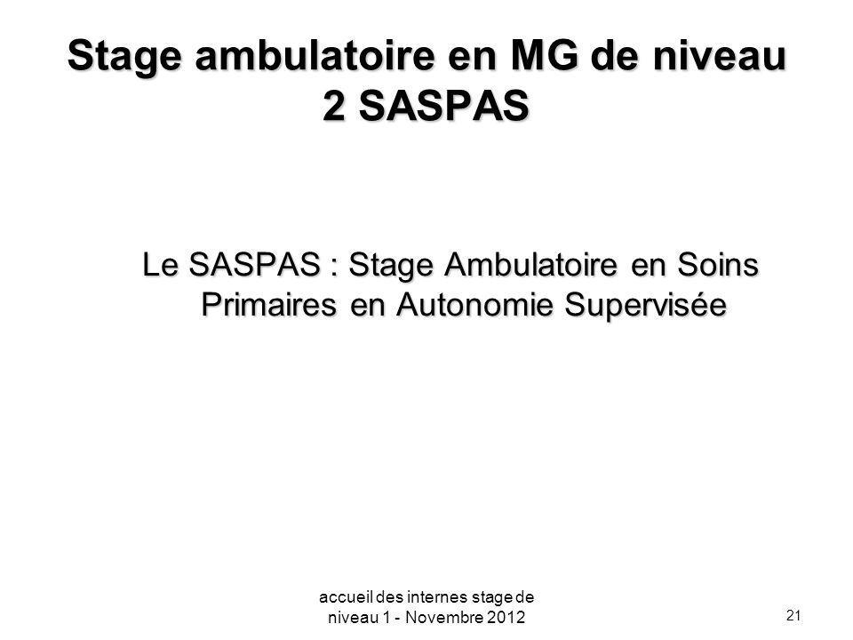 Stage ambulatoire en MG de niveau 2 SASPAS