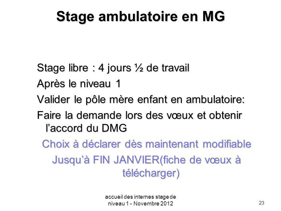 Stage ambulatoire en MG