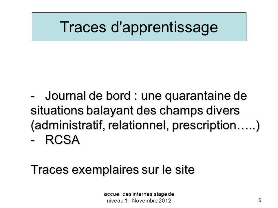 Traces d apprentissage