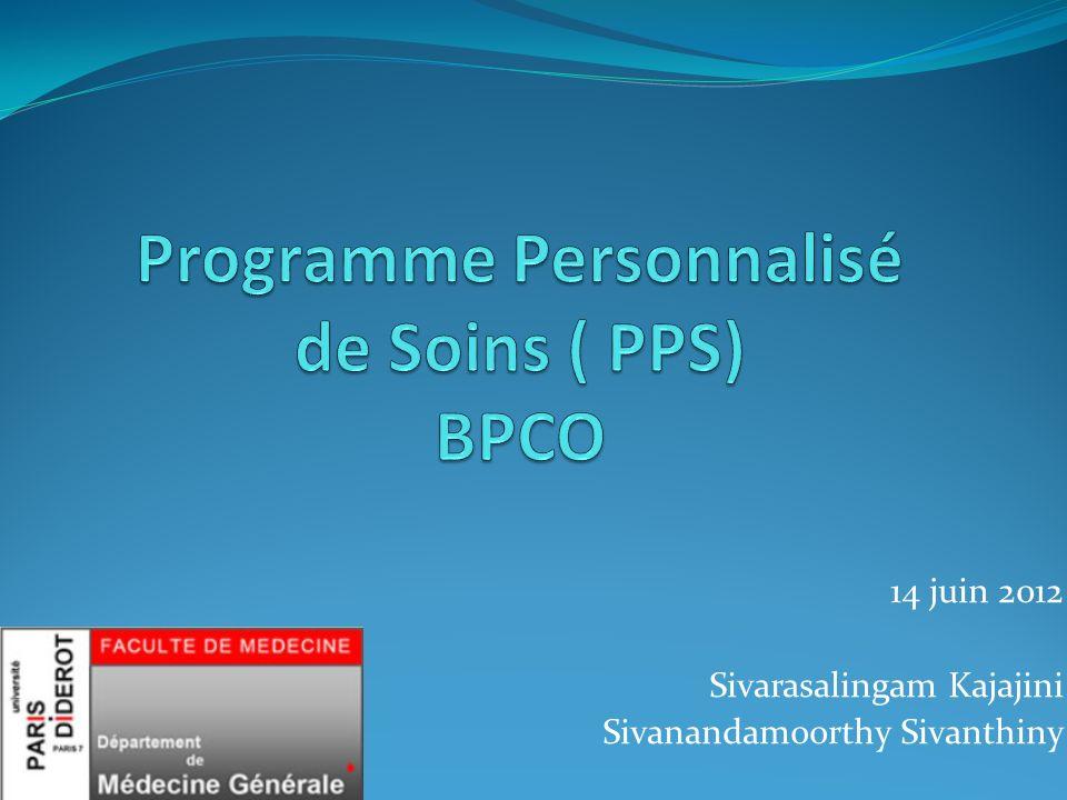 Programme Personnalisé de Soins ( PPS) BPCO