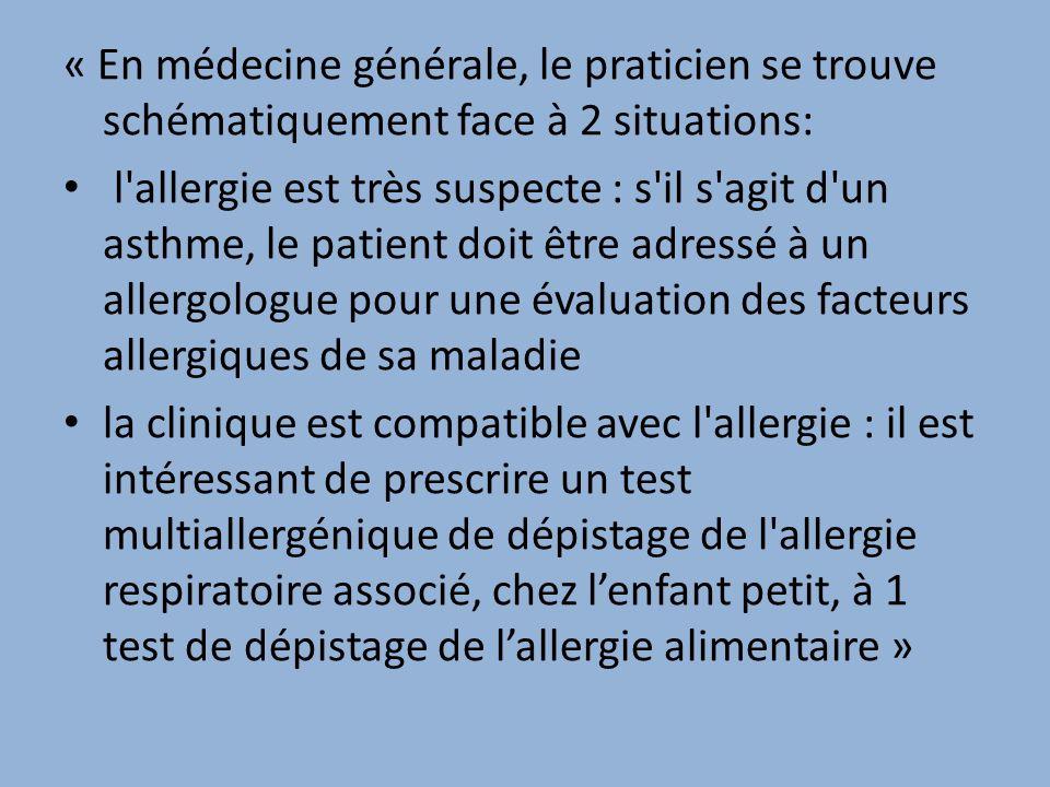 « En médecine générale, le praticien se trouve schématiquement face à 2 situations: