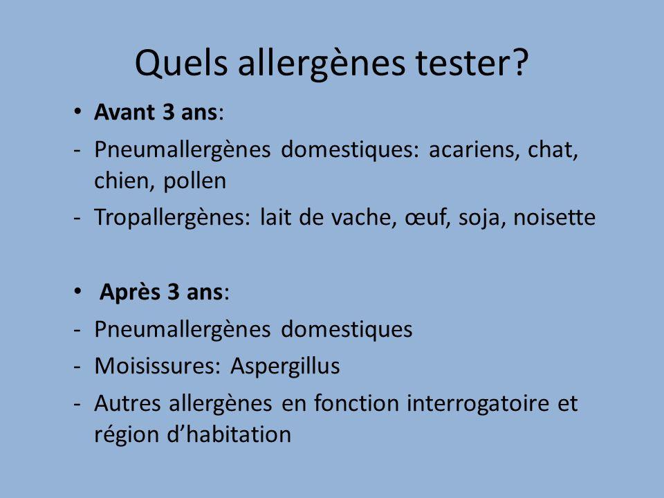 Quels allergènes tester