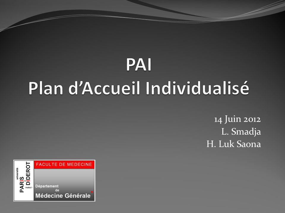 PAI Plan d'Accueil Individualisé