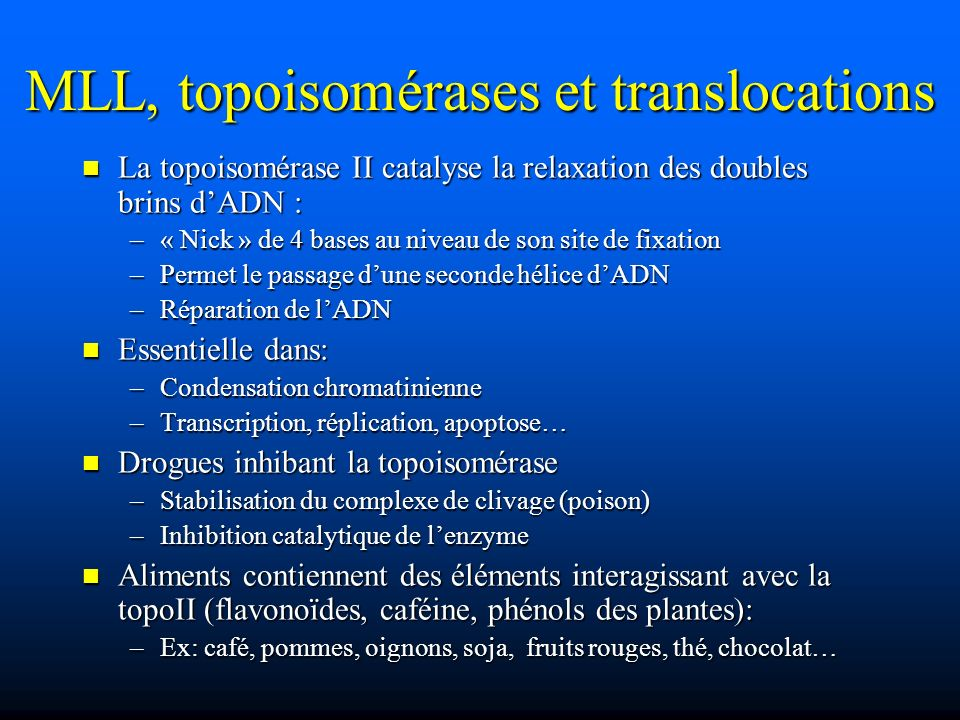 MLL, topoisomérases et translocations