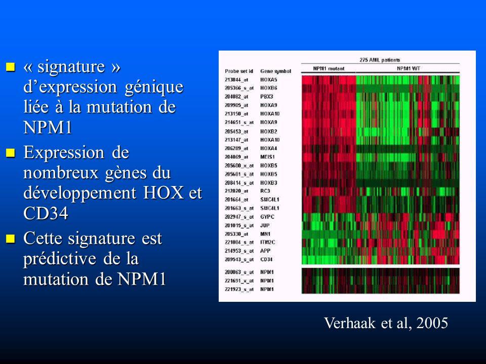 « signature » d'expression génique liée à la mutation de NPM1