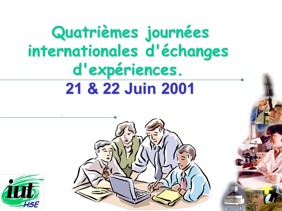 Quatrièmes journées internationales d échanges d expériences