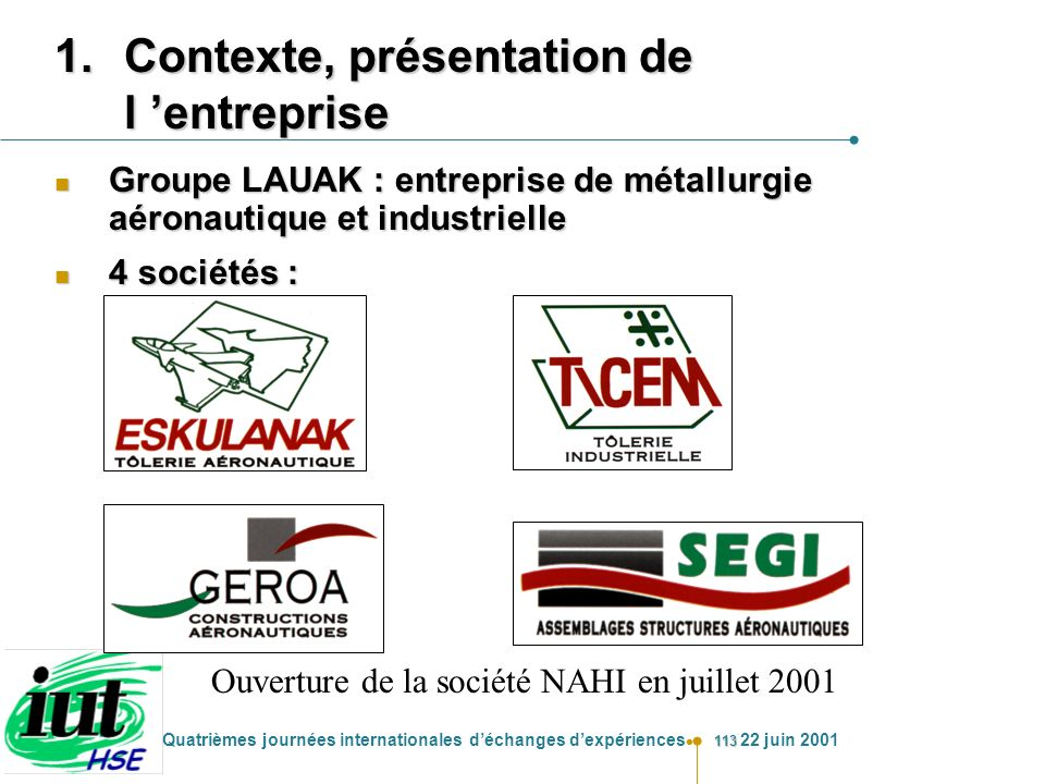 Contexte, présentation de l 'entreprise