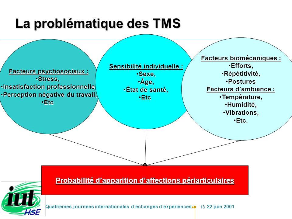 La problématique des TMS