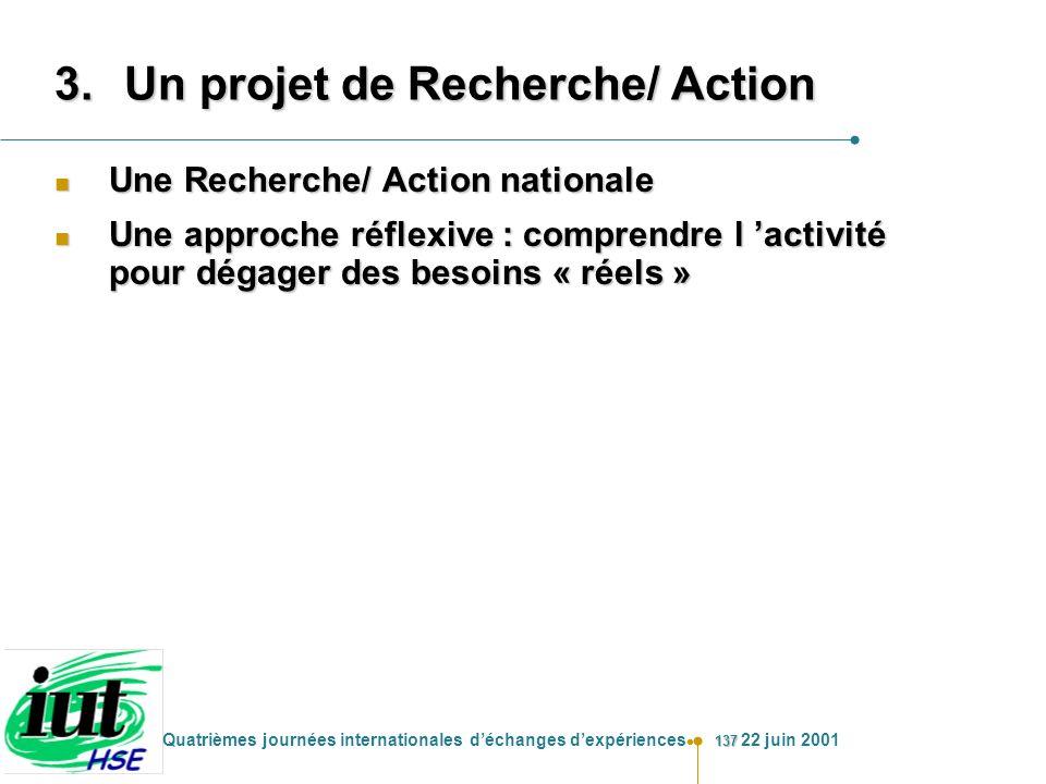 Un projet de Recherche/ Action