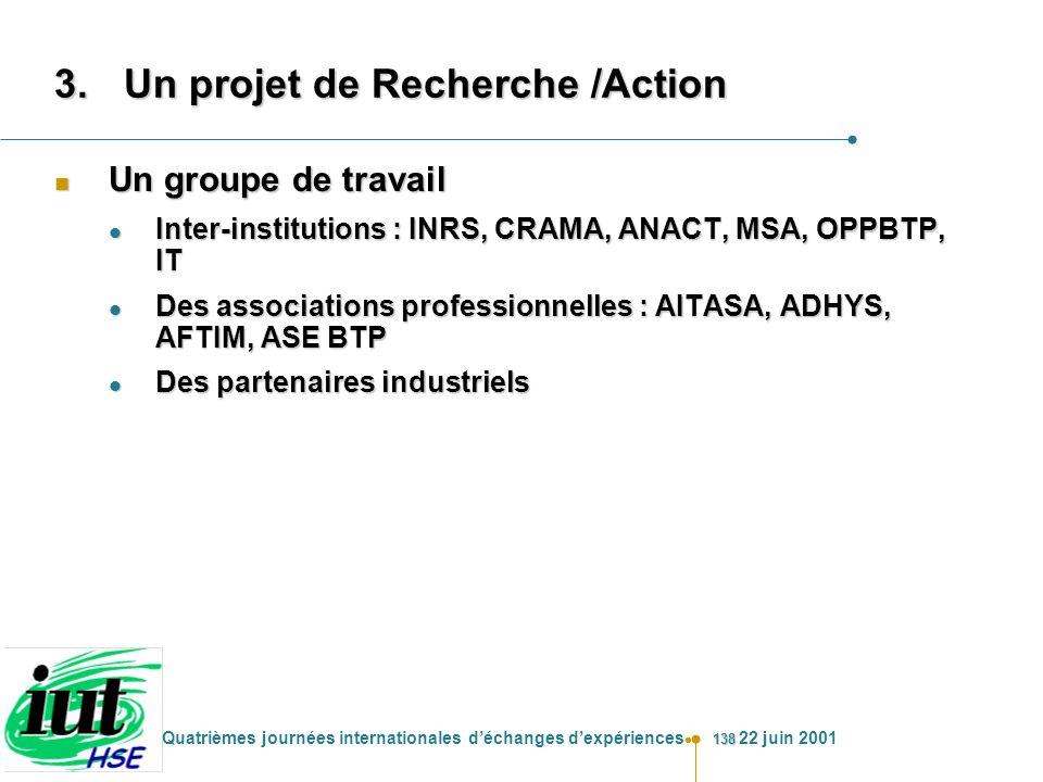 Un projet de Recherche /Action