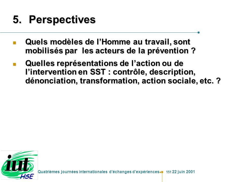 Perspectives Quels modèles de l'Homme au travail, sont mobilisés par les acteurs de la prévention