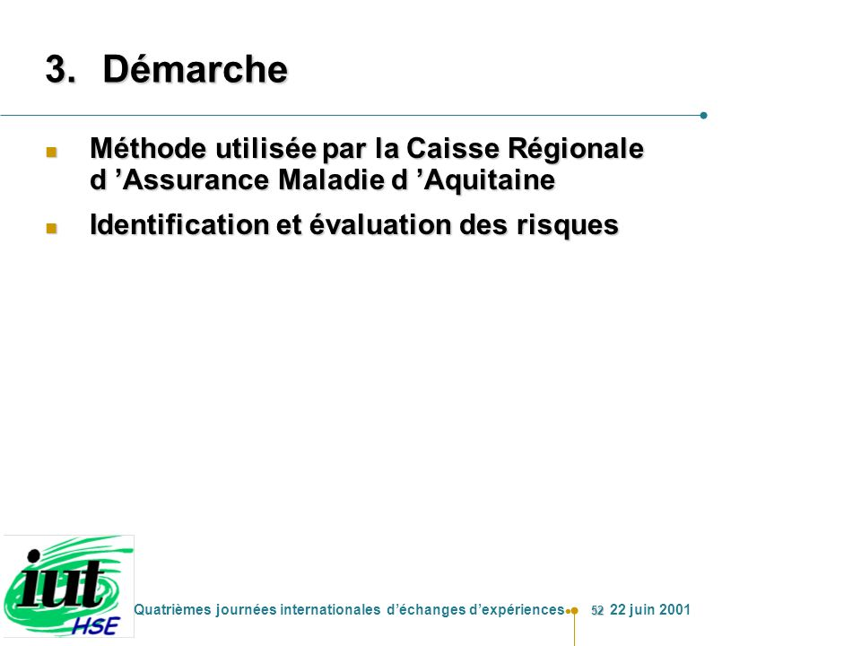 Démarche Méthode utilisée par la Caisse Régionale d 'Assurance Maladie d 'Aquitaine.