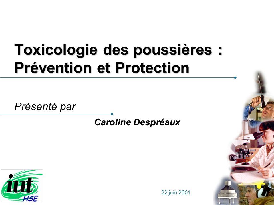 Toxicologie des poussières : Prévention et Protection