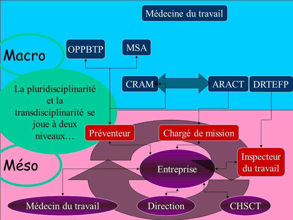 Macro Méso Médecine du travail OPPBTP MSA