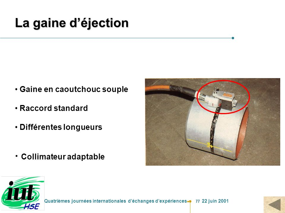 La gaine d'éjection Collimateur adaptable Gaine en caoutchouc souple