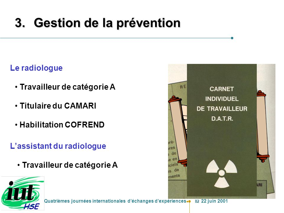 Gestion de la prévention
