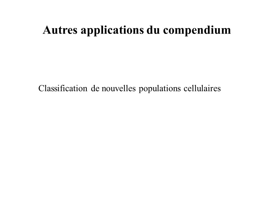 Autres applications du compendium
