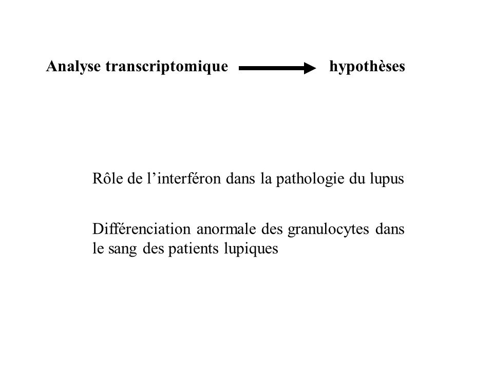 Analyse transcriptomique