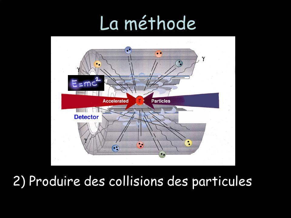 La méthode 2) Produire des collisions des particules