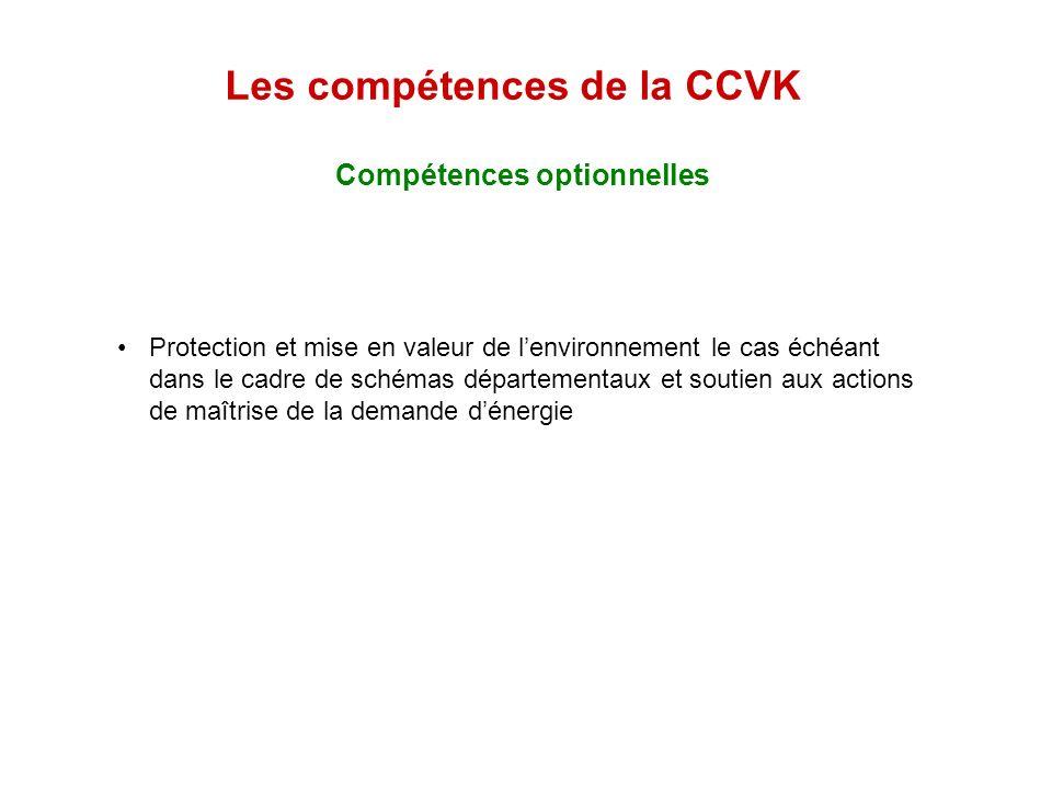 Les compétences de la CCVK