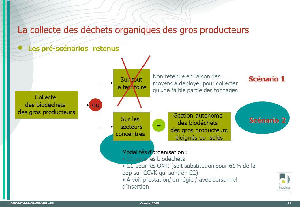 La collecte des déchets organiques des gros producteurs