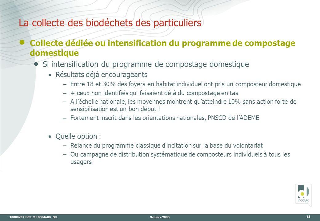 La collecte des biodéchets des particuliers