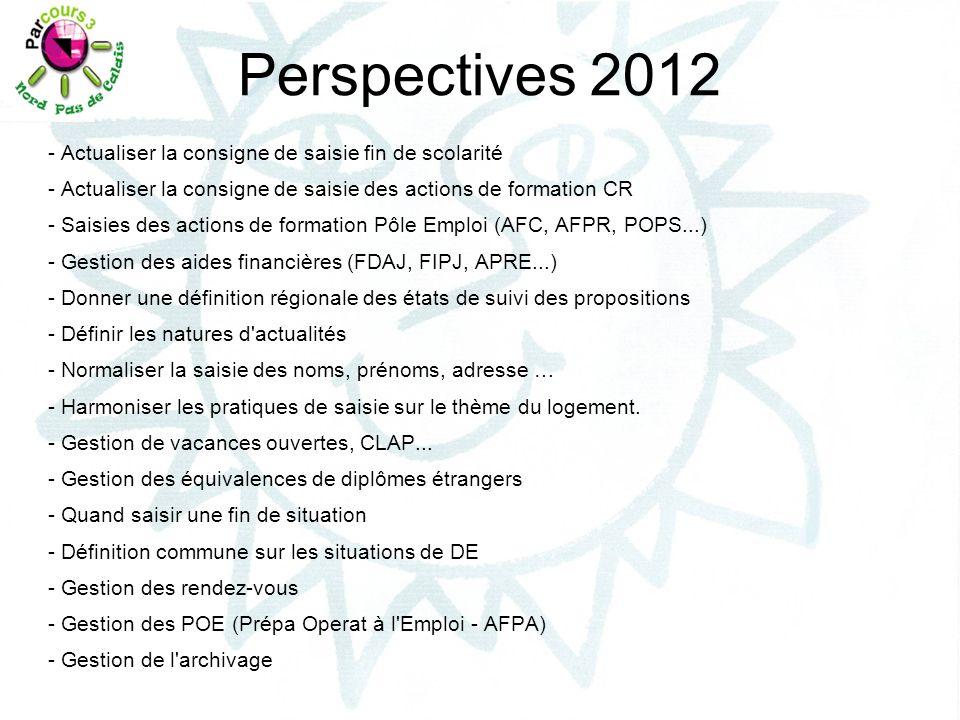 Perspectives 2012 - Actualiser la consigne de saisie fin de scolarité