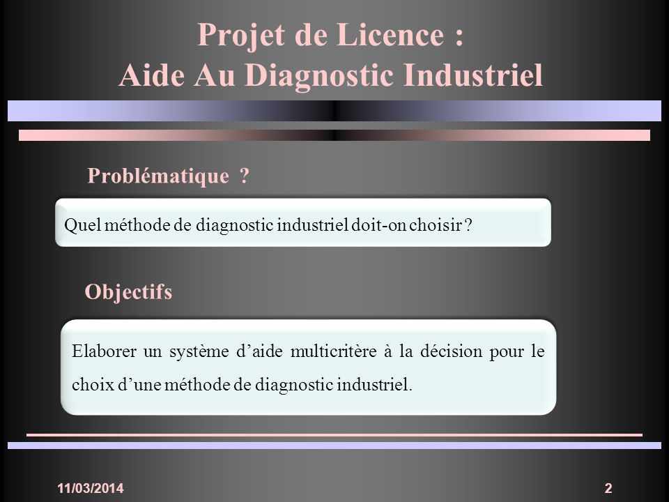 Aide Au Diagnostic Industriel