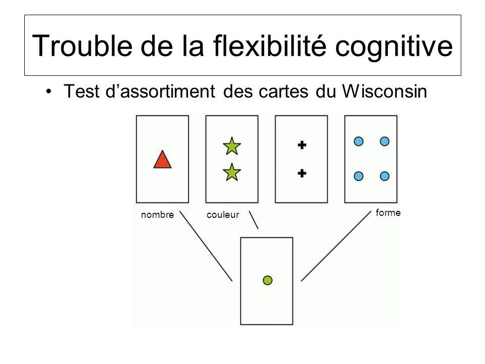 Trouble de la flexibilité cognitive