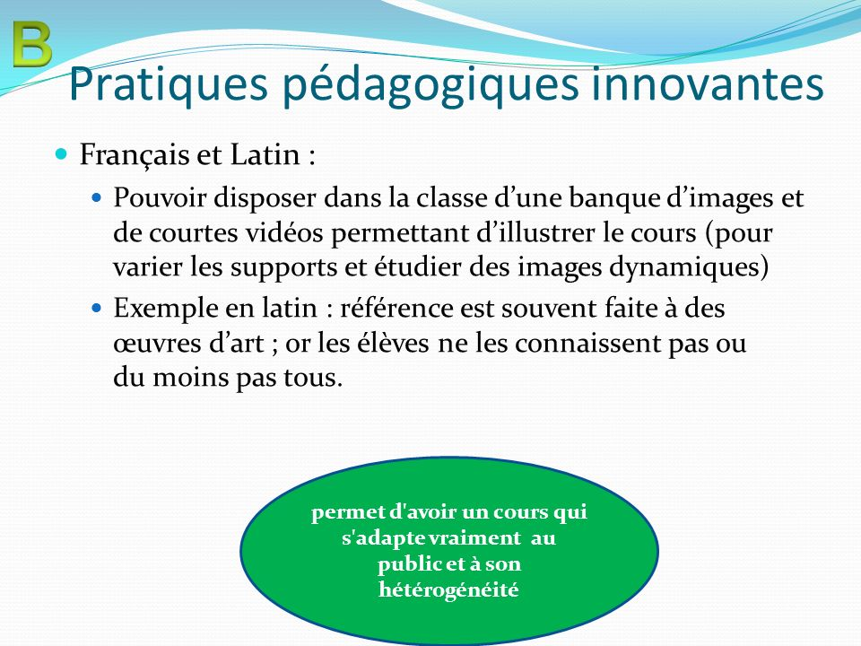 Pratiques pédagogiques innovantes