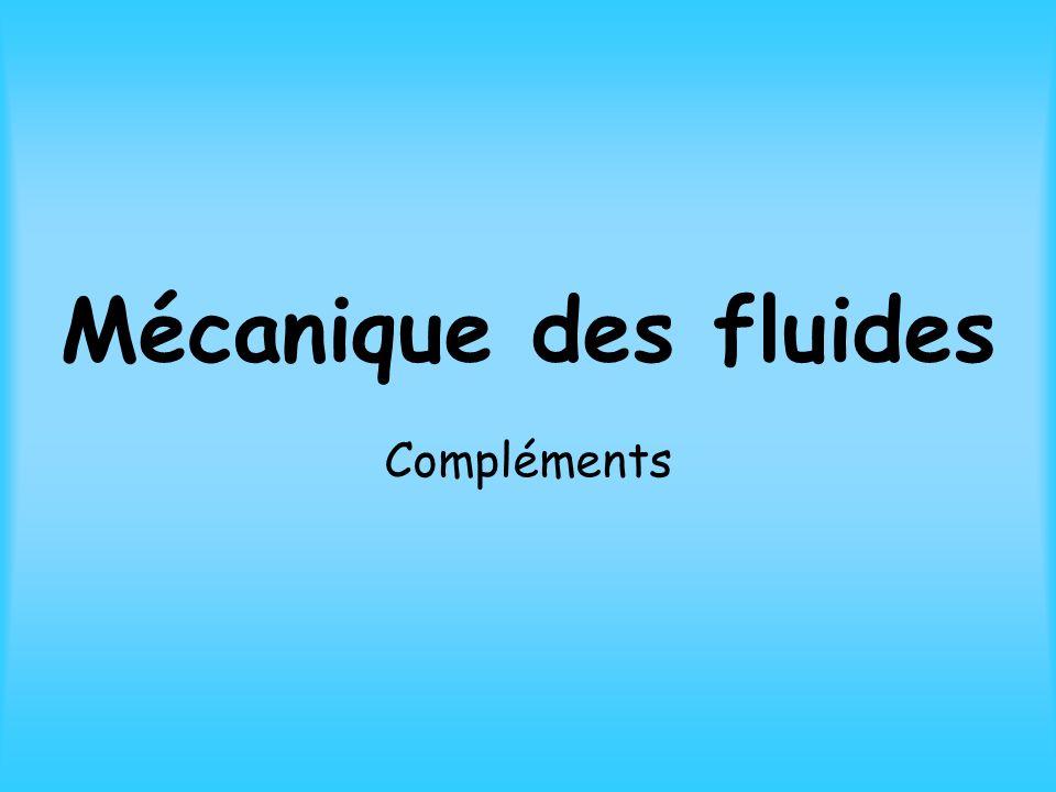 Mécanique des fluides Compléments
