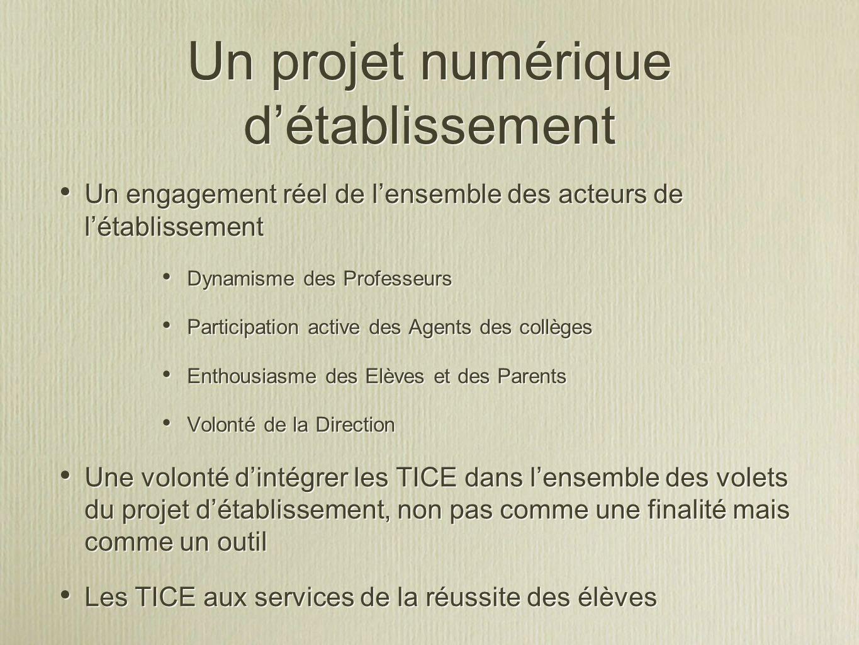 Un projet numérique d'établissement