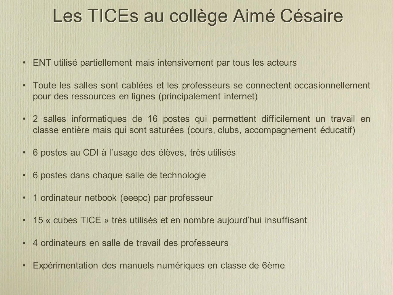 Les TICEs au collège Aimé Césaire