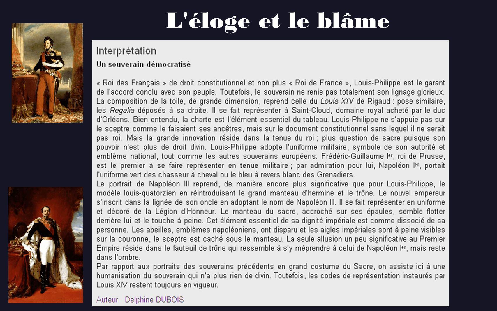 L éloge et le blâme