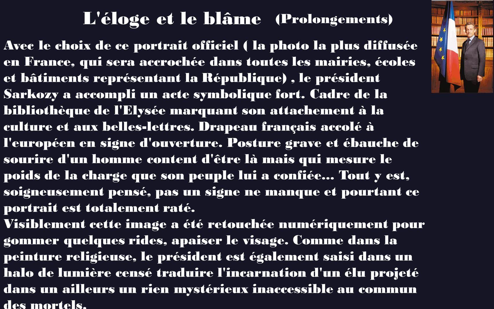 L éloge et le blâme (Prolongements)