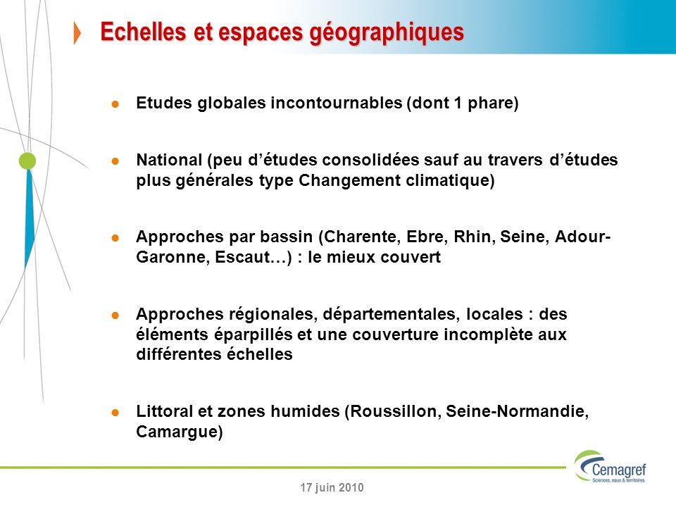 Echelles et espaces géographiques
