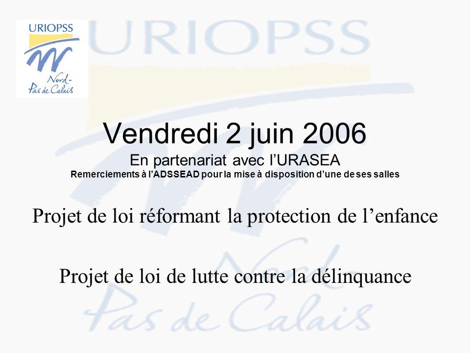 Vendredi 2 juin 2006 En partenariat avec l'URASEA Remerciements à l'ADSSEAD pour la mise à disposition d'une de ses salles