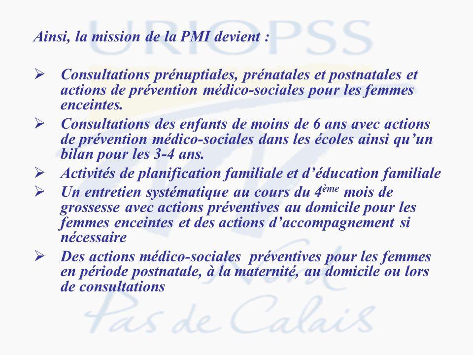 Ainsi, la mission de la PMI devient :