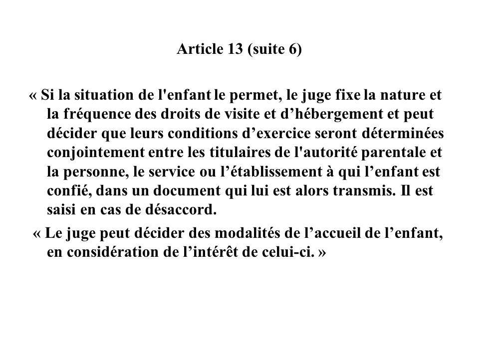 Article 13 (suite 6)