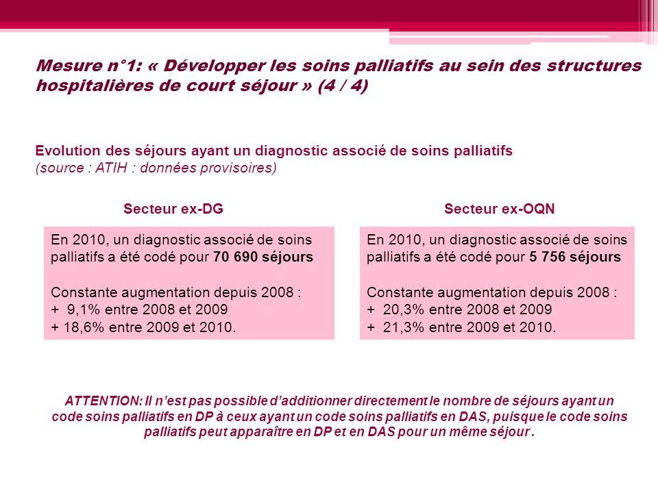Mesure n°1: « Développer les soins palliatifs au sein des structures hospitalières de court séjour » (4 / 4)